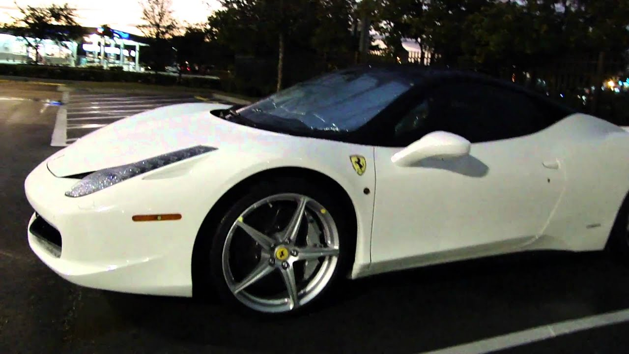 Black Amp White Ferrari 458 Italia In The Rain Youtube