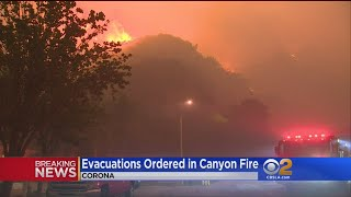 Mandatory Evacuations Ordered In Corona As Brush Fire Grows To 2K Acres, Threatens Homes