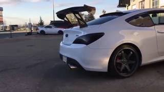 Muffler deleted on a Genesis Coupe