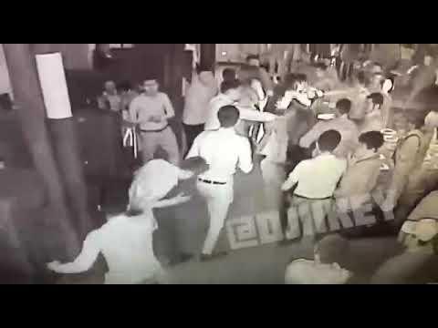Массовая драка в ресторане попала на видео