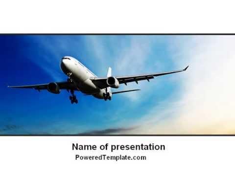 modern plane powerpoint templatepoweredtemplate - youtube, Modern powerpoint