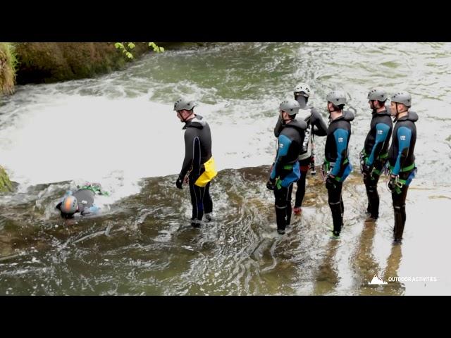 Canyonning de Malvaux dans le Jura avec outdooractivities