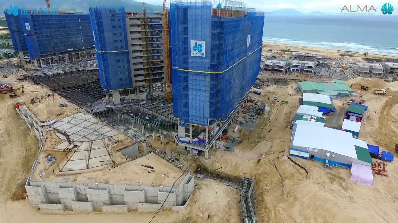 Toàn cảnh công trường dự án khu nghỉ dưỡng ALMA – 05.10.2018