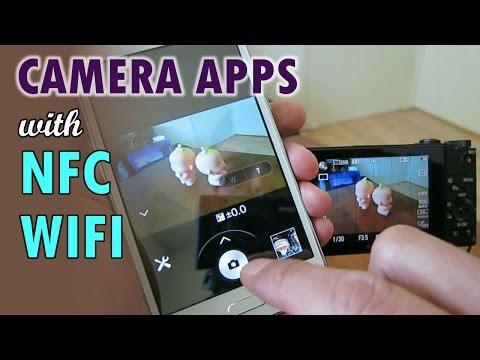 SONY Camera Apps With NFC & Wifi