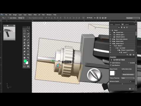 Photoshop CC: Star Trek Phaser — 3D from Vector Shapes