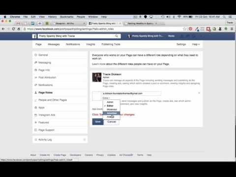How to add an Admin Person to your Facebook page - YouTube