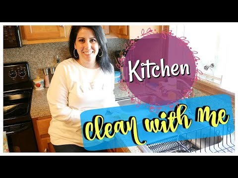 KITCHEN CLEAN WITH ME || CLEANING BEFORE VACATION || SPEED CLEANING