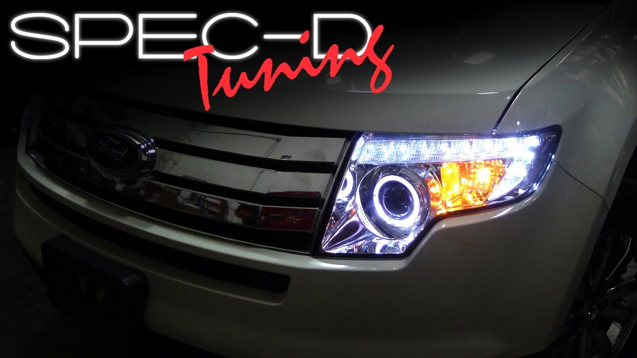 Ford Edge Tail Light Wiring Specdtuning Installation Video 2007 2010 Projector Headlights