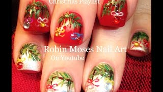 Nail Art Tutorials | Diy Christmas Nail Art! | Xmas Ornaments Nail Design