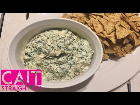 Slow Cooker Spinach Artichoke Dip Recipe | Cait Straight Up