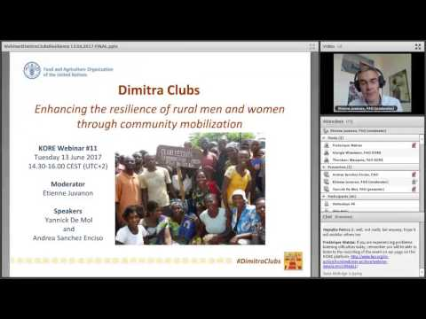 Webinar on resilience 11– Dimitra Clubs: enhancing the resilience through community mobilization