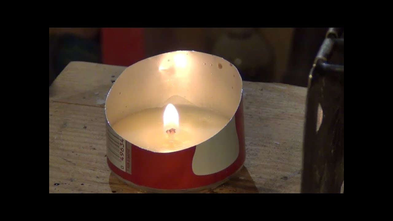 How to make a soda pop can candle hd youtube for Coke can heater