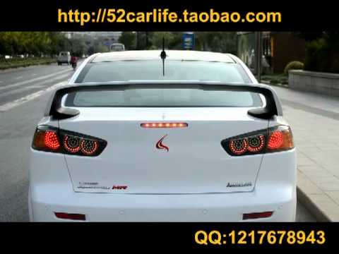 Evo 9 Headlights >> mitsubishi lancer evo X LED tail lights - YouTube