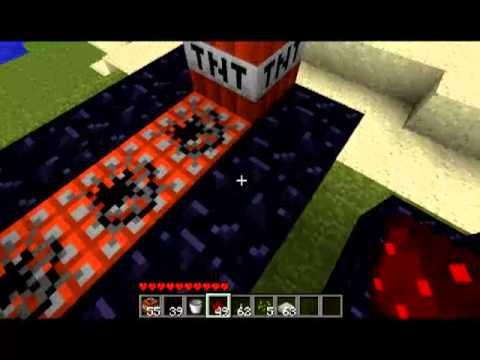 minecraft 1 7 2 fabrication et utilisation d 39 un canon tnt youtube. Black Bedroom Furniture Sets. Home Design Ideas