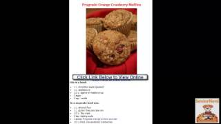 Prograde Orange Cranberry Muffins By Easy Healthy Recipes