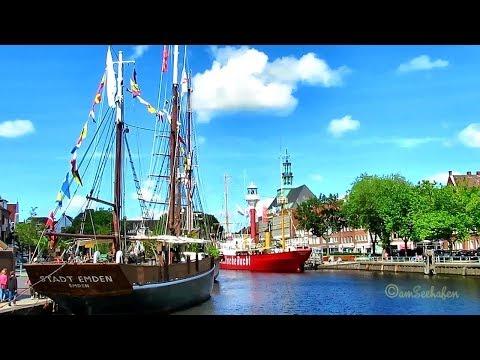Sommer Sonntag im wunderschönen Emden Emder Innenstadt August 2017 Delft
