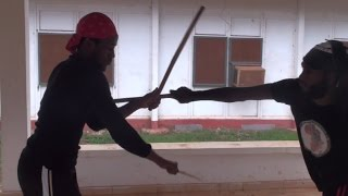 Part 2: SHOCKING! Afrikan Combat Capoeira Stick Fight and Sparring: Abibifahodie Asako Accra Ghana