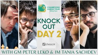 $1.5m Champions Chess Tour: Skilling Open | QF Day 2 | Live commentary by Peter Leko & Tania Sachdev