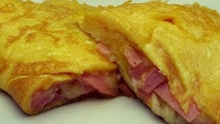Salami Cheese Omelette Recipe