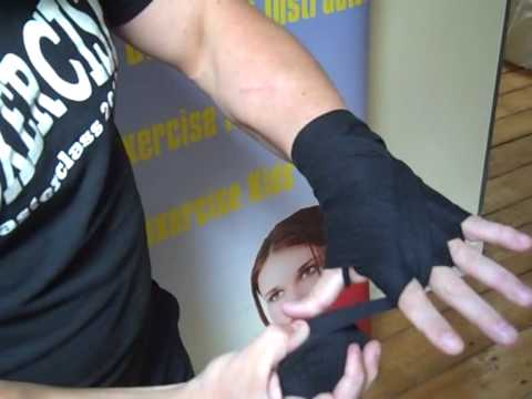 How to bandage your hands for Boxercise