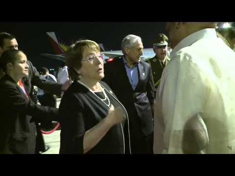 Departure of President Michelle Bachelet, Chile 11/19/2015