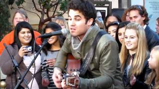 "Darren Criss performs ""Part Of Your World"" at The Grove LA"