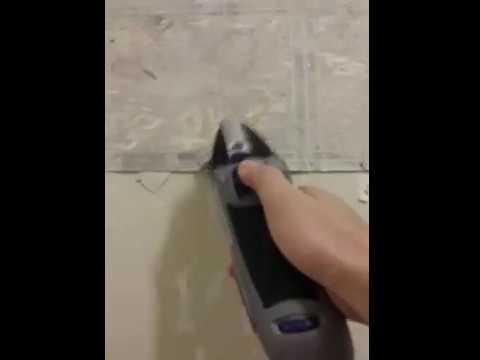 How To Remove Linoleum Flooring With A Handheld Electric Scraper - Hand held electric floor scraper