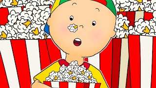 Funny Animated cartoons Kids 🍿 Caillou eats Popcorn 🍿 WATCH ONLINE | Cartoons for Children