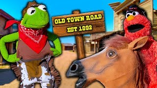 kermit-the-cowboy-takes-his-horse-to-the-old-town-road
