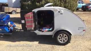 Living Simply: Motorcycle Pulling Teardrop Trailer Home