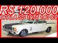 #PASTORE R$ 120.000 #Chevrolet #Opala #Coupé #SS 1975 Branco Everest MT4 RWD 4.1 140 cv 29 kgfm