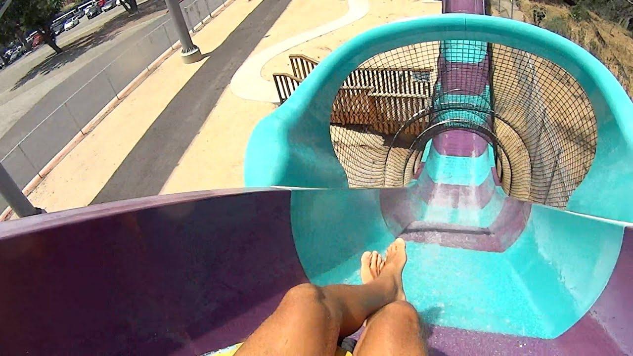 Aqua Coaster Water Slide at Raging Waters Los Angeles