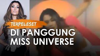 Video Detik-detik Puteri Indonesia Frederika Terpeleset Di Panggung Miss Universe Lihat Reaksinya