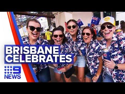 Brisbane Locals Celebrate Australia Day | Nine News Australia