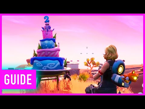 Fortnite: Dance In Front Of 10 Different Birthday Cakes Location Guide | Birthday Challenges