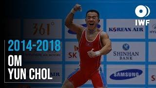 Om Yun Chol | 2014 - 2018 Clean & Jerk Lift Progression