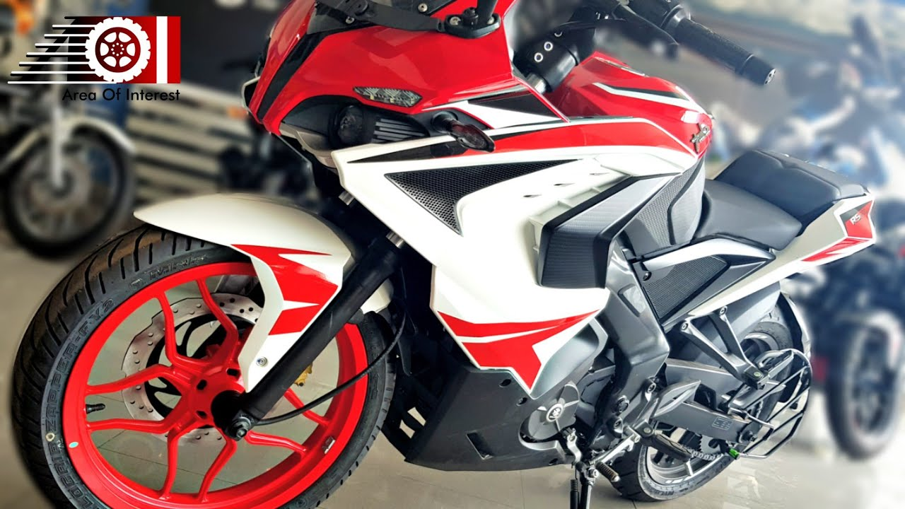 2018 Bajaj Pulsar Rs200 New Racing Red Colour Price Mileage Features Specs Walkaround Youtube