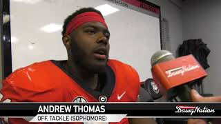 Georgia tackle Andrew Thomas breaks down G-day
