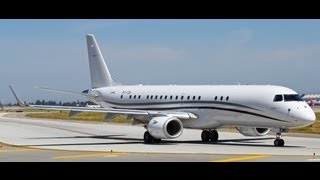 HD Rare Embraer Lineage 1000 (E-190) [PT-TCK] Takeoff at San Jose International Airport