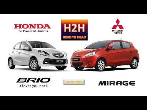 H2h 52 Honda Brio Vs Mitsubishi Mirage Youtube