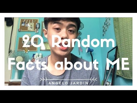 20 FACTS ABOUT ME #GeloVlogs | Angelo Jardin