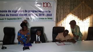 Signature du Protocole d'accord du PPTD