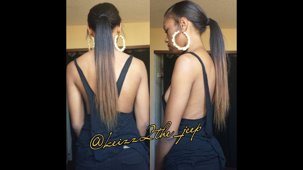 Easy 5 Minute Long Ponytail Owigs Com Clip In Extensions