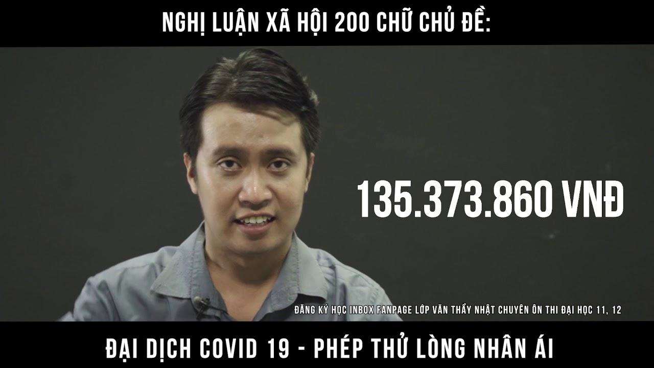 NLXH 200 chữ - Đại dịch covid Phép thử lòng nhân ái