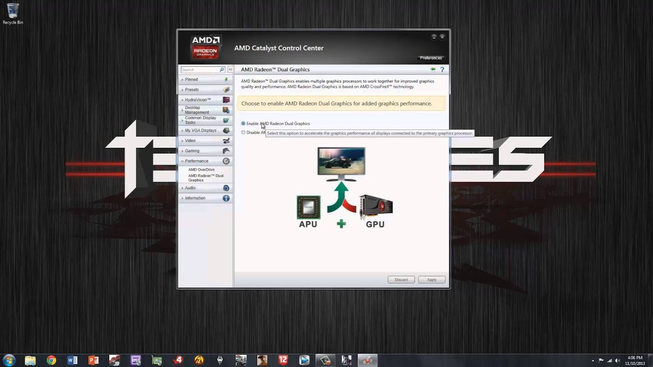How To Crossfire Amd A8 6600k 7750 Tutorial Dual Graphics Mode Youtube