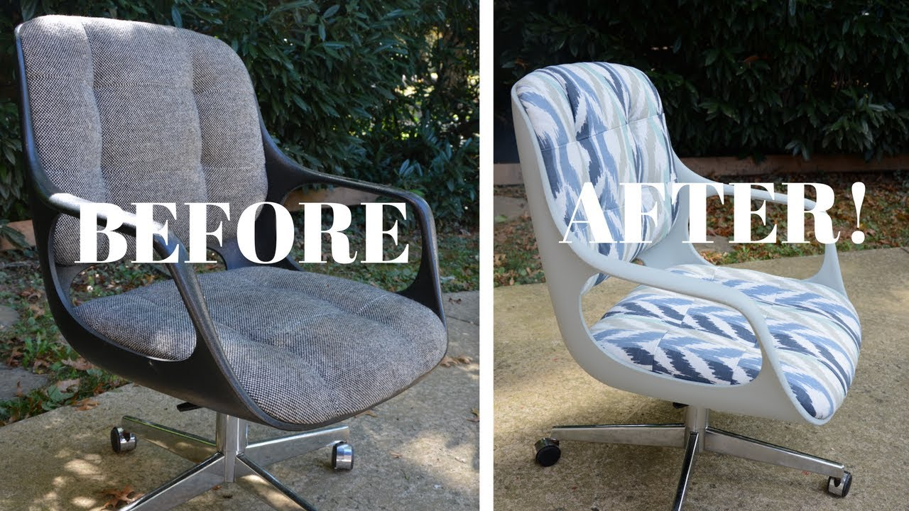 vintage chromcraft office chair makeover part 2 furniture
