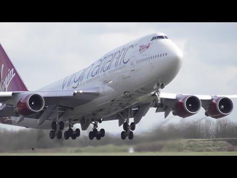 Virgin Boeing 747 G-VBIG Take Off at Cambridge Airport