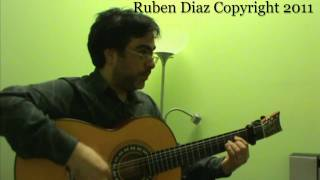 Buleria Compas 1 (132 bpm / Beginners 3) Ruben Diaz flamenco guitar lessons CFG Malaga
