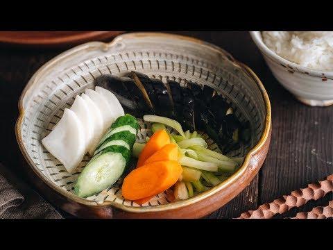 How To Make Tsukemono - Shiozuke (Salt Pickling) (Recipe) 漬物 -- 塩漬けの作り方