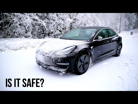 Is The Tesla Model 3 Safe In The Snow?! (3 Tests)